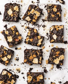 spiced hot chocolate brownies