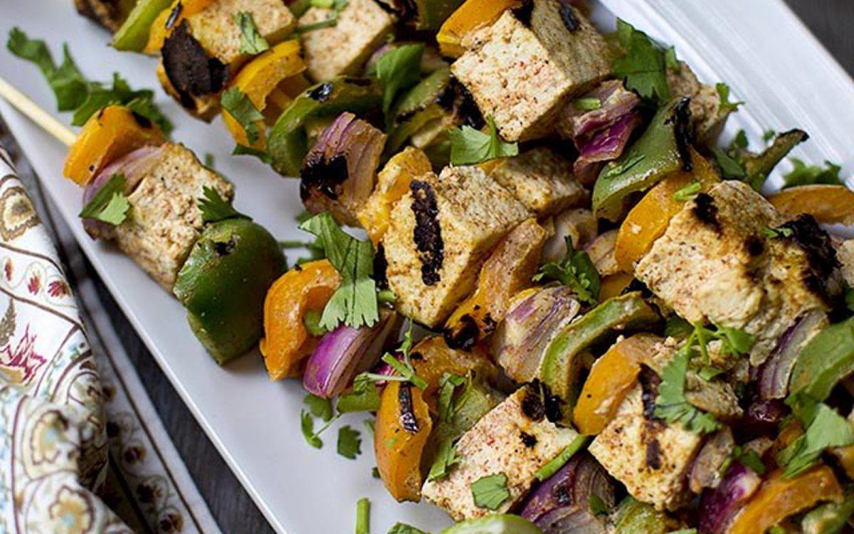 Roasted Tofu Tika Kebabas