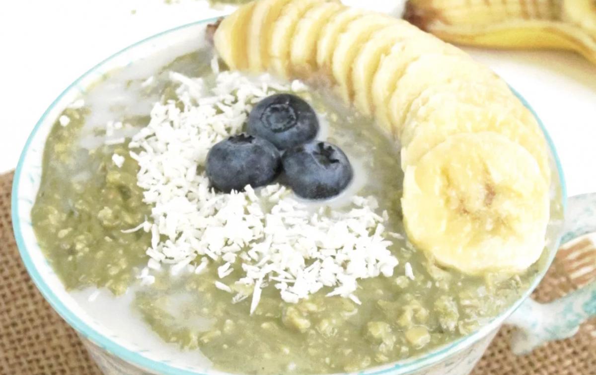 Vegan Matcha Yogurt Overnight Zoats