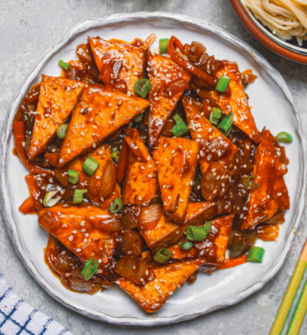 Crispy Tofu in a Sweet and Sour Sauce