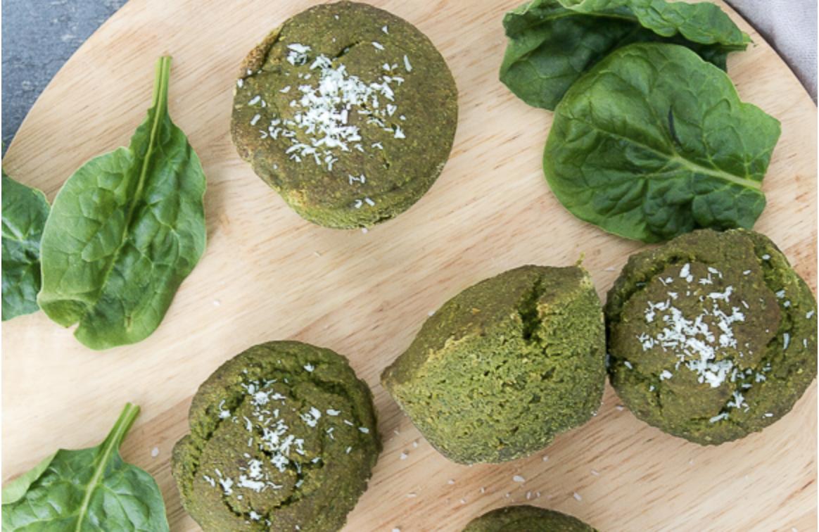 Vegan Spinach Muffins