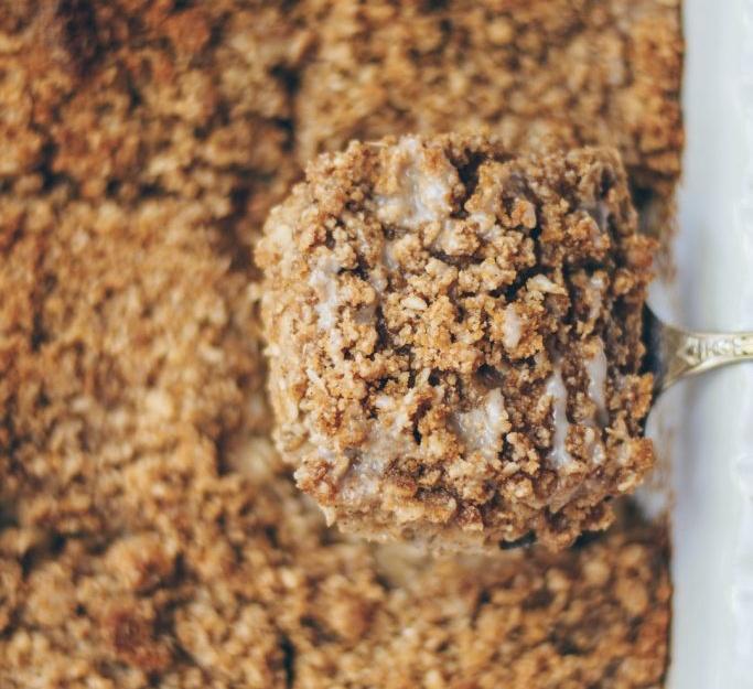 Vegan Coffee Cake Baked Oatmeal