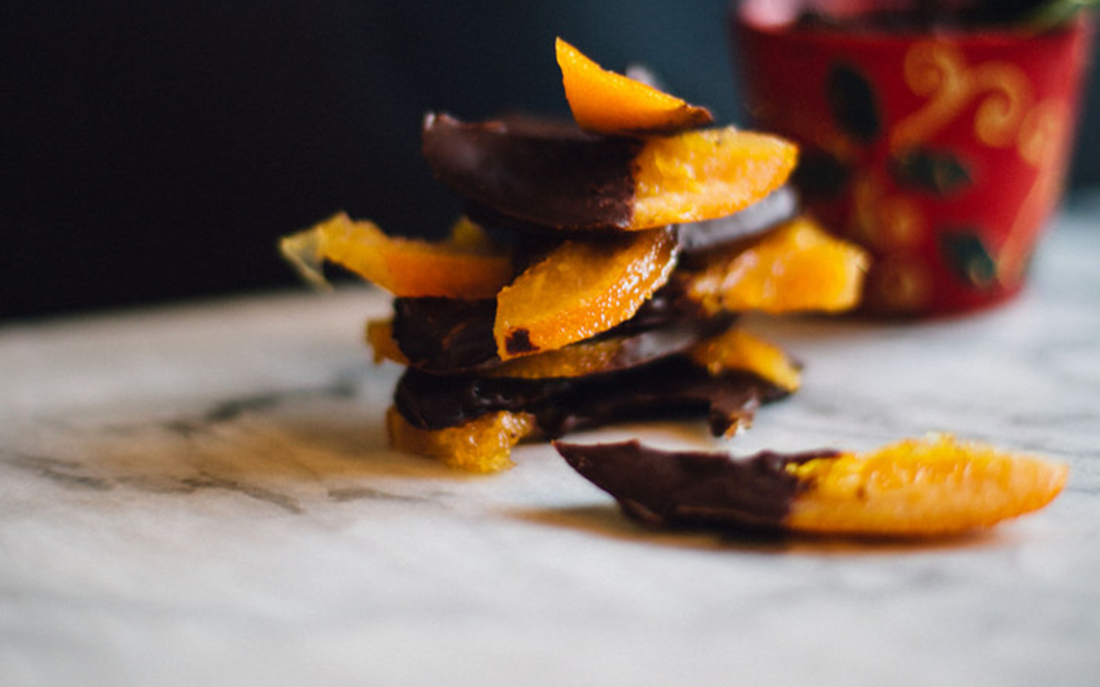 Chocolate-Dipped Candied Oranges