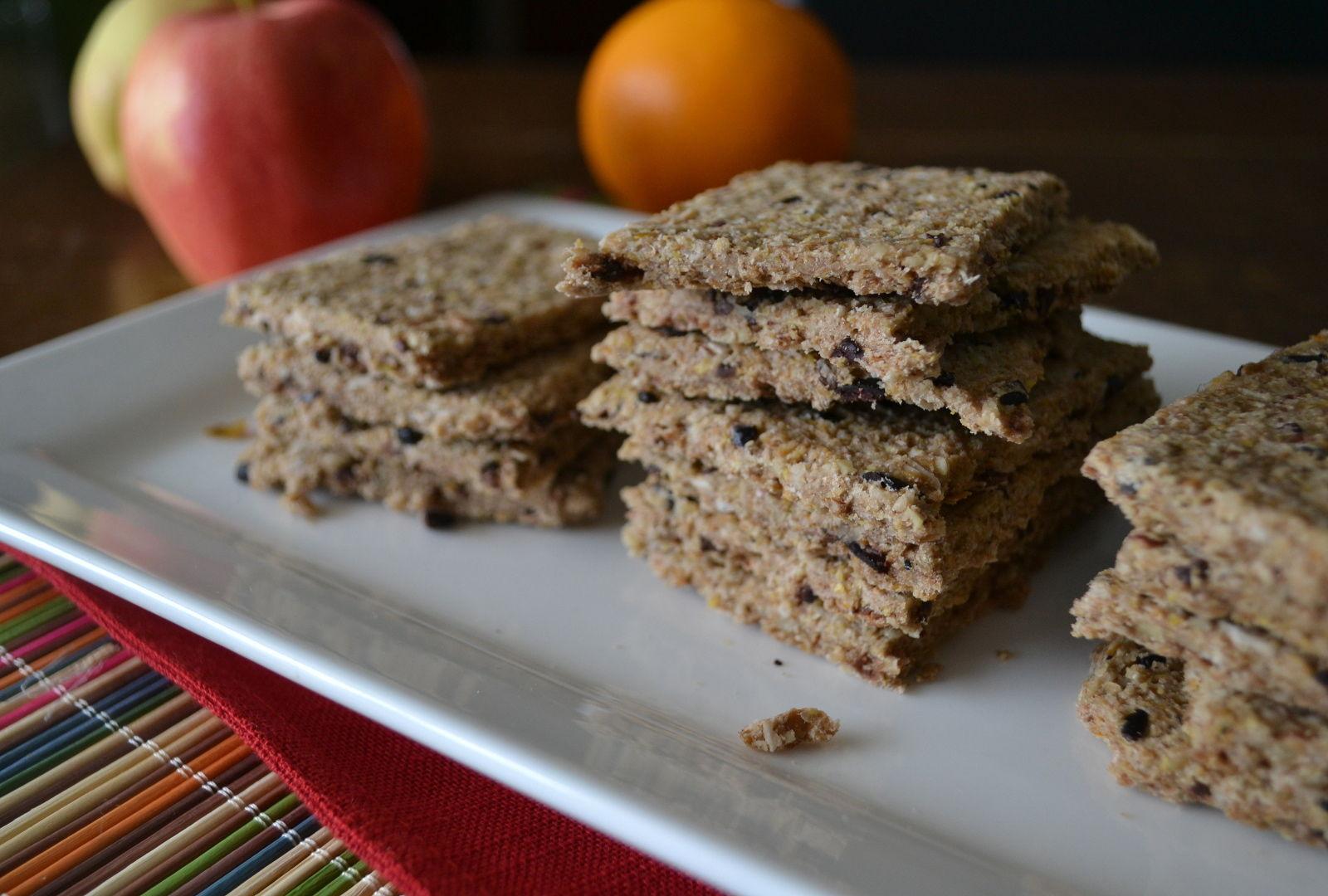 Raw Granola Bar Crackers