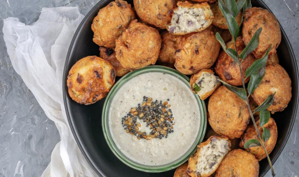 Vegan Dill Flavored Lentil Fritters