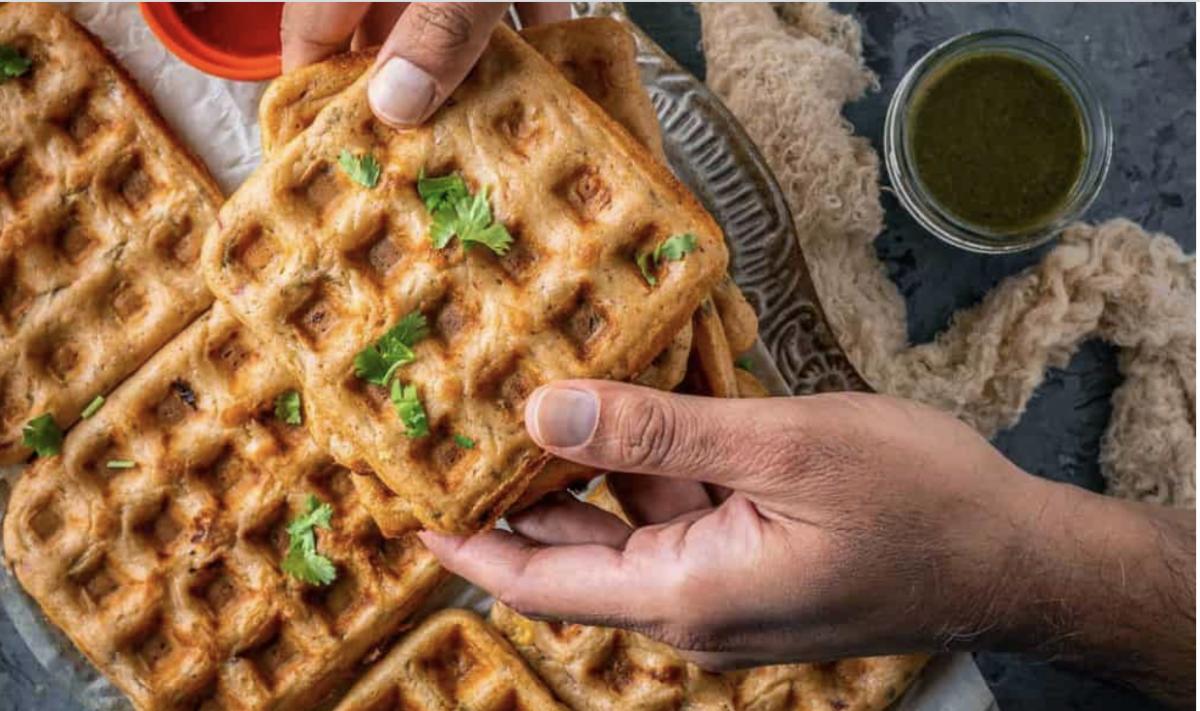 Vegan Savory Dosa Waffles