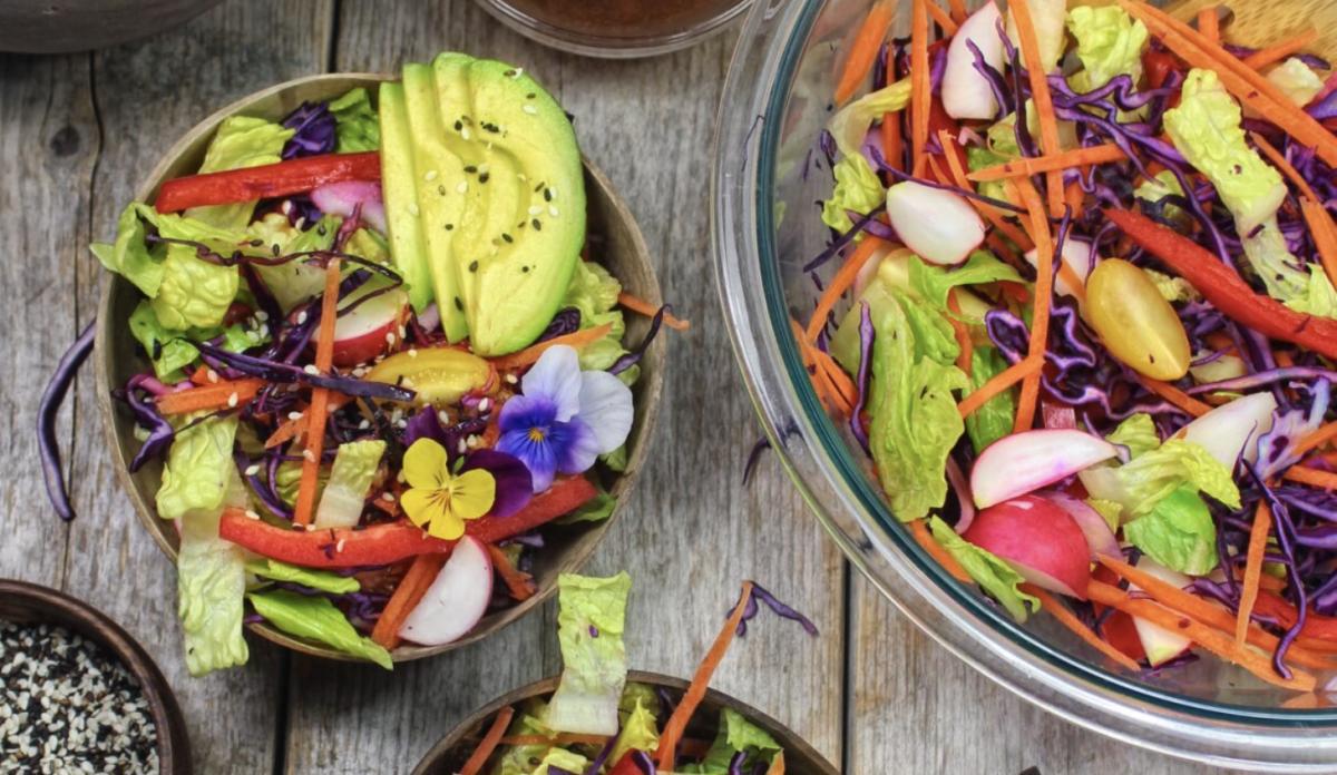 Vegan Asian Rainbow Salad