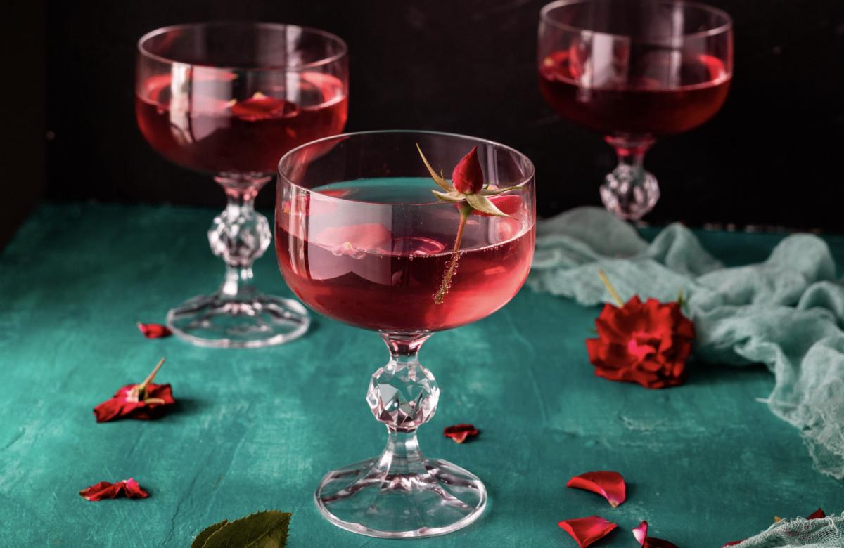 Vegan Rose Petals & Cardamom Syrup