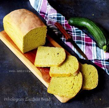 100% Whole Wheat Yeasted Zucchini Bread