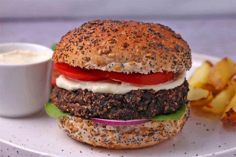 Mushroom and Kale Burgers