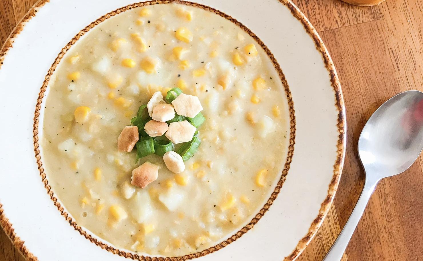 Vegan The Best Corn and Potato Chowder
