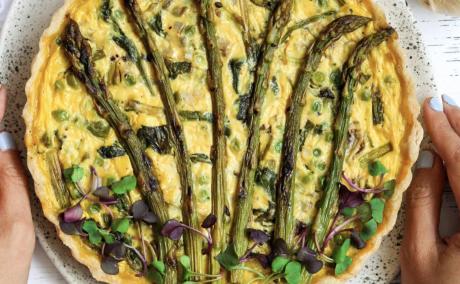 Vegan Asparagus Quiche