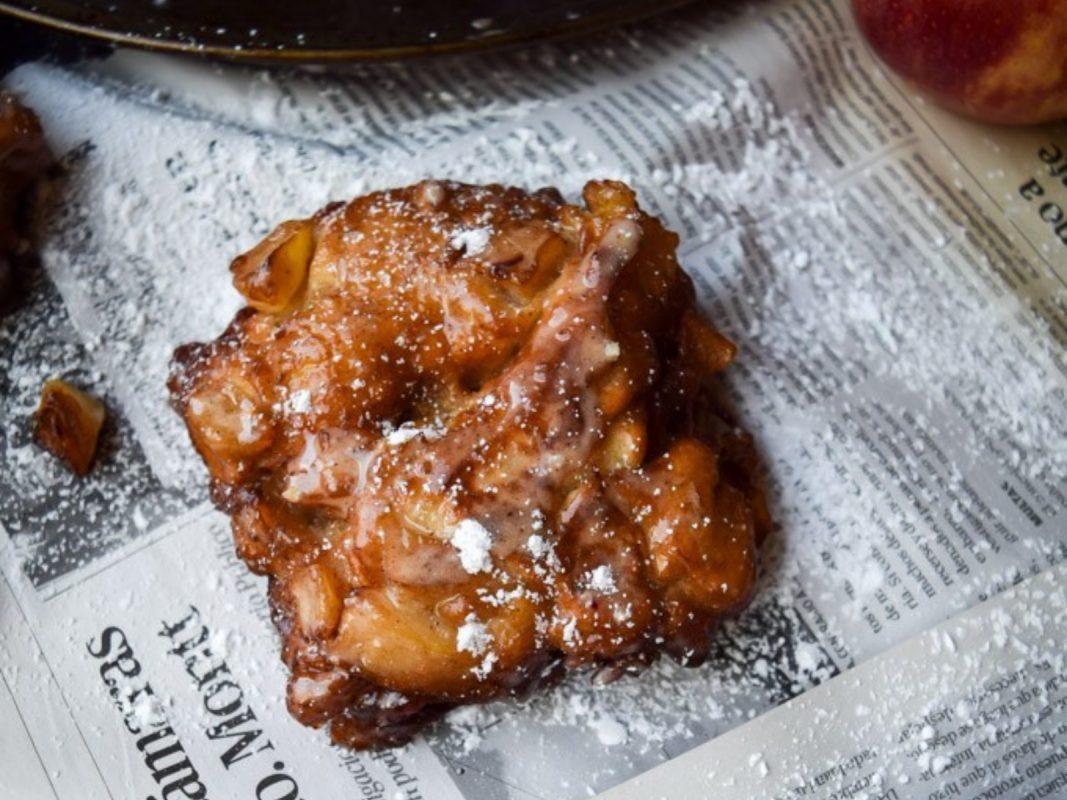 Glazed Cinnamon Apple Fritters