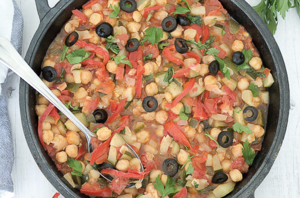 Summer Vegetables with Chickpeas