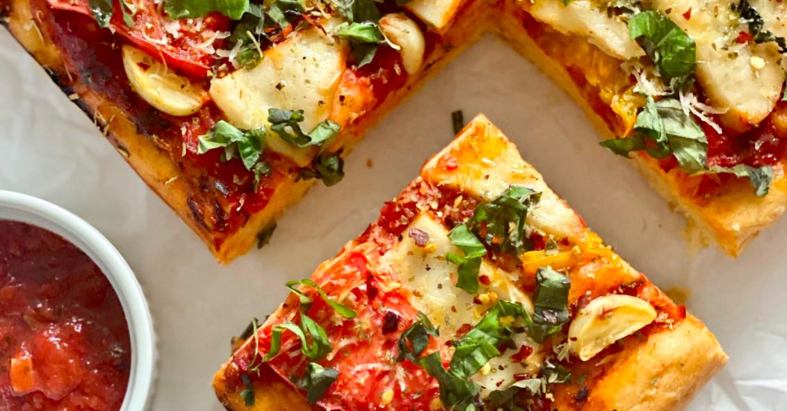Vegan Focaccia Pizza